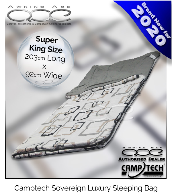 Camptech Sovereign Super King Size Luxury Sleeping Bag 350g//sm Matching Design